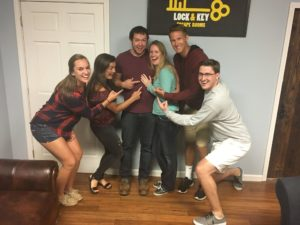 A Couple who got engaged and had their proposal Escape Room Style